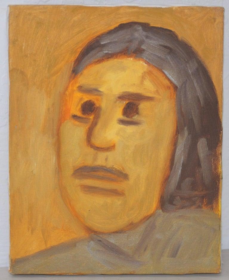 "Arthur Krakower Portrait Painting - Arthur J. Krakower (1921-2009) ""Laurie"" Original Oil on Canvas c.1998"