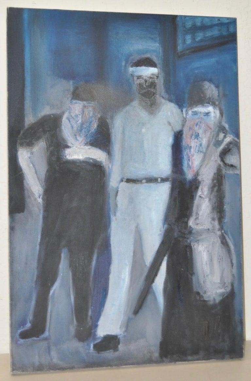 "Arthur Krakower Figurative Painting - Arthur J. Krakower ""December 31, 1996"" Original Oil Painting c.1996"