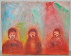 "Arthur J. Krakower ""Sunday"" Original Oil Painting c.2000"
