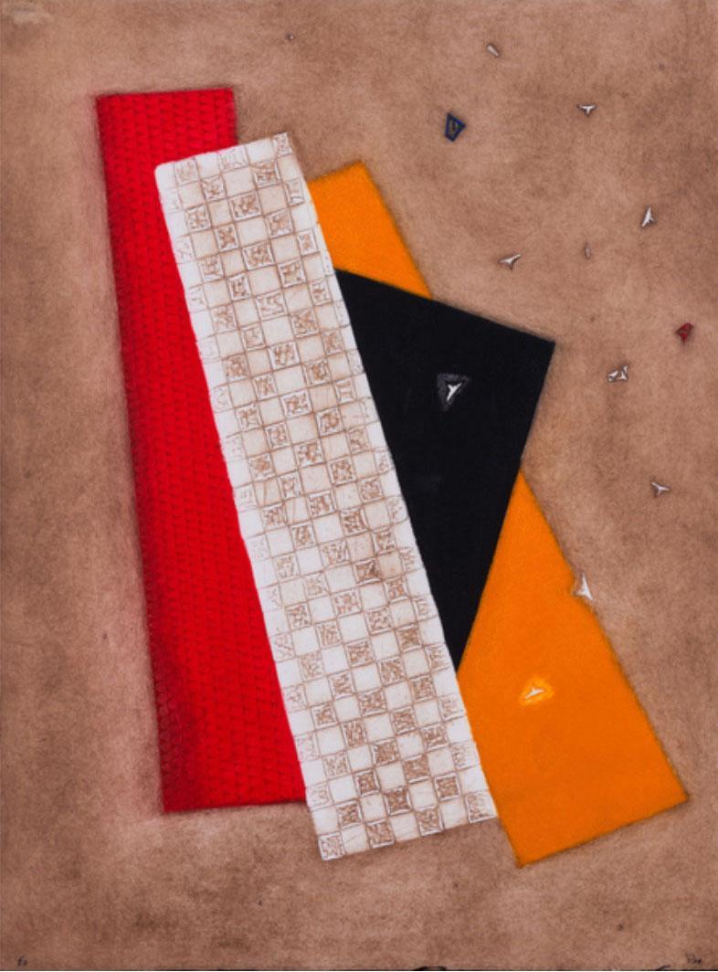 Composition rouge orangé