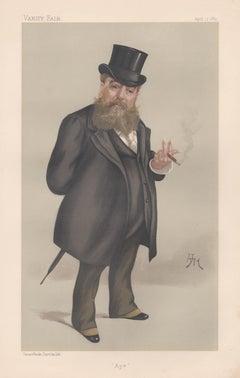 Carlo Pellegrini, Vanity Fair artist portrait chromolithograph 1889