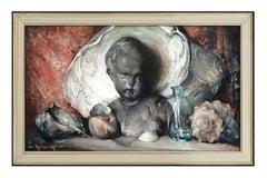 Arthur Meltzer Oil Painting On Canvas Signed Original Still Life Framed Artwork