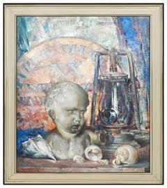 Arthur Meltzer Original Oil On Canvas Painting Signed Authentic Framed Artwork