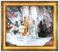 Arthur Meltzer Original Painting Oil On Canvas Signed Authentic Still Life Art