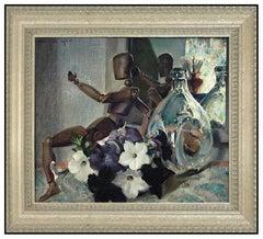 Arthur Meltzer Original Painting On Canvas Signed Still Life Authentic Artwork