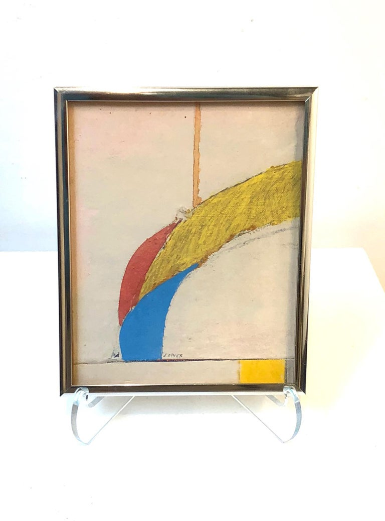 The Straight and the Curved - American Modern Mixed Media Art by Arthur Osver