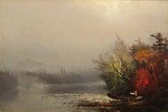 A Misty Mountain Lake