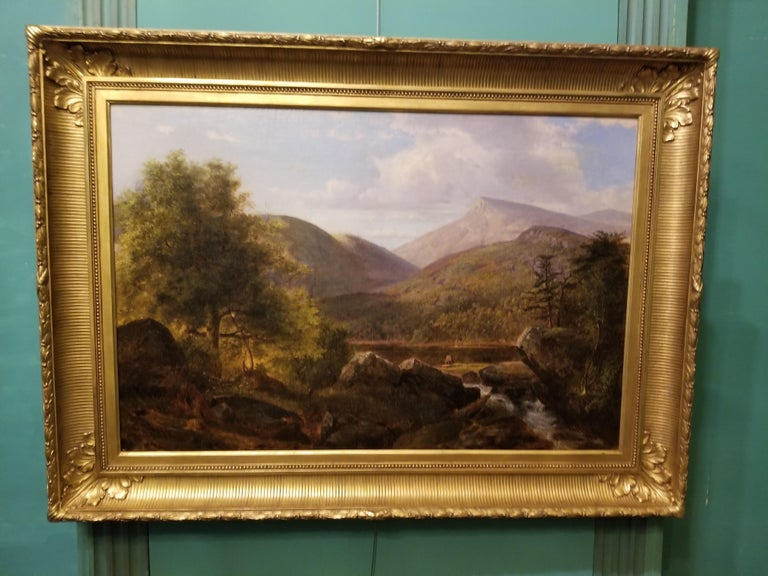 Deer in a Landscape - Painting by Arthur Parton