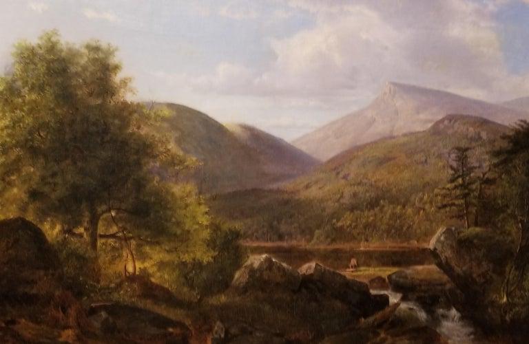 Arthur Parton Landscape Painting - Deer in a Landscape