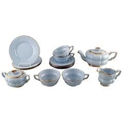 "Arthur Percy for Upsala-Ekeby / Gefle, Set of Four Art Deco ""Grand"" Teacups"