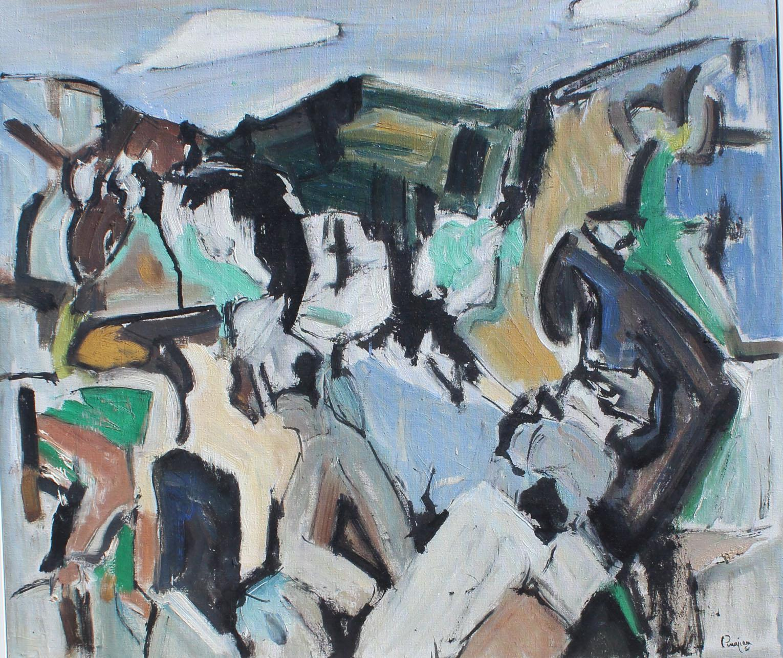 Arthur Pinajian , archived no. 389, 25x28 inches, oil on canvas, year 1961