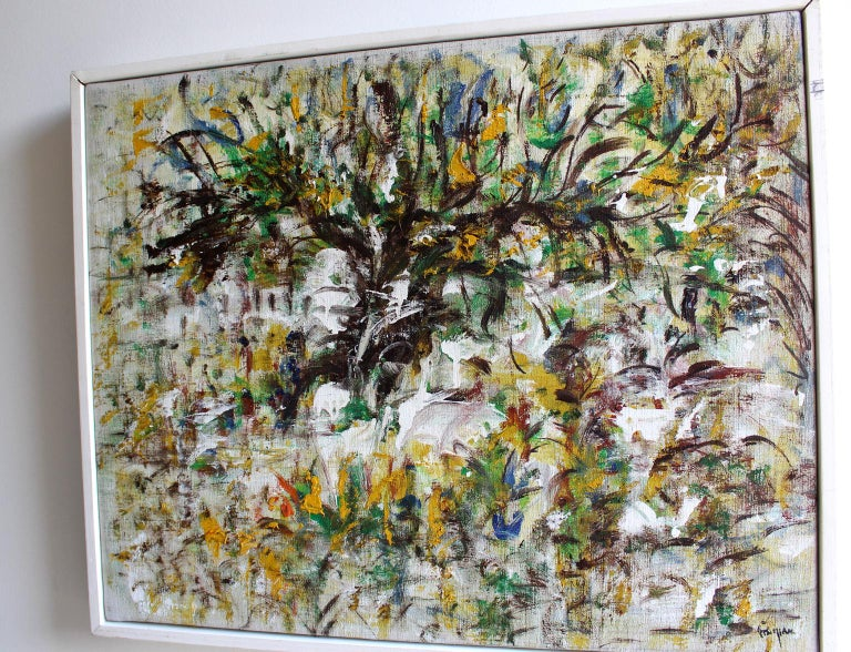 Landscape, Woodstock, 1968  - Abstract Expressionist Painting by Arthur Pinajian