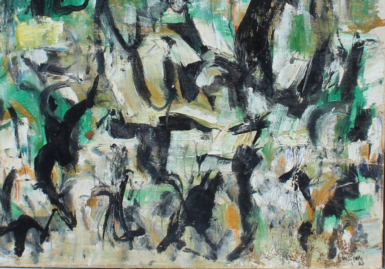 Untitled, D153 - Painting by Arthur Pinajian