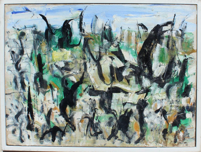 Arthur Pinajian Abstract Painting - Untitled, D153