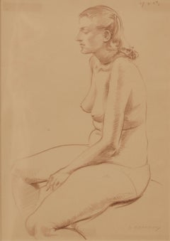 Nude Woman Still Life - Pencil Figurative Still Life of Nude Lady by A. Bradbury