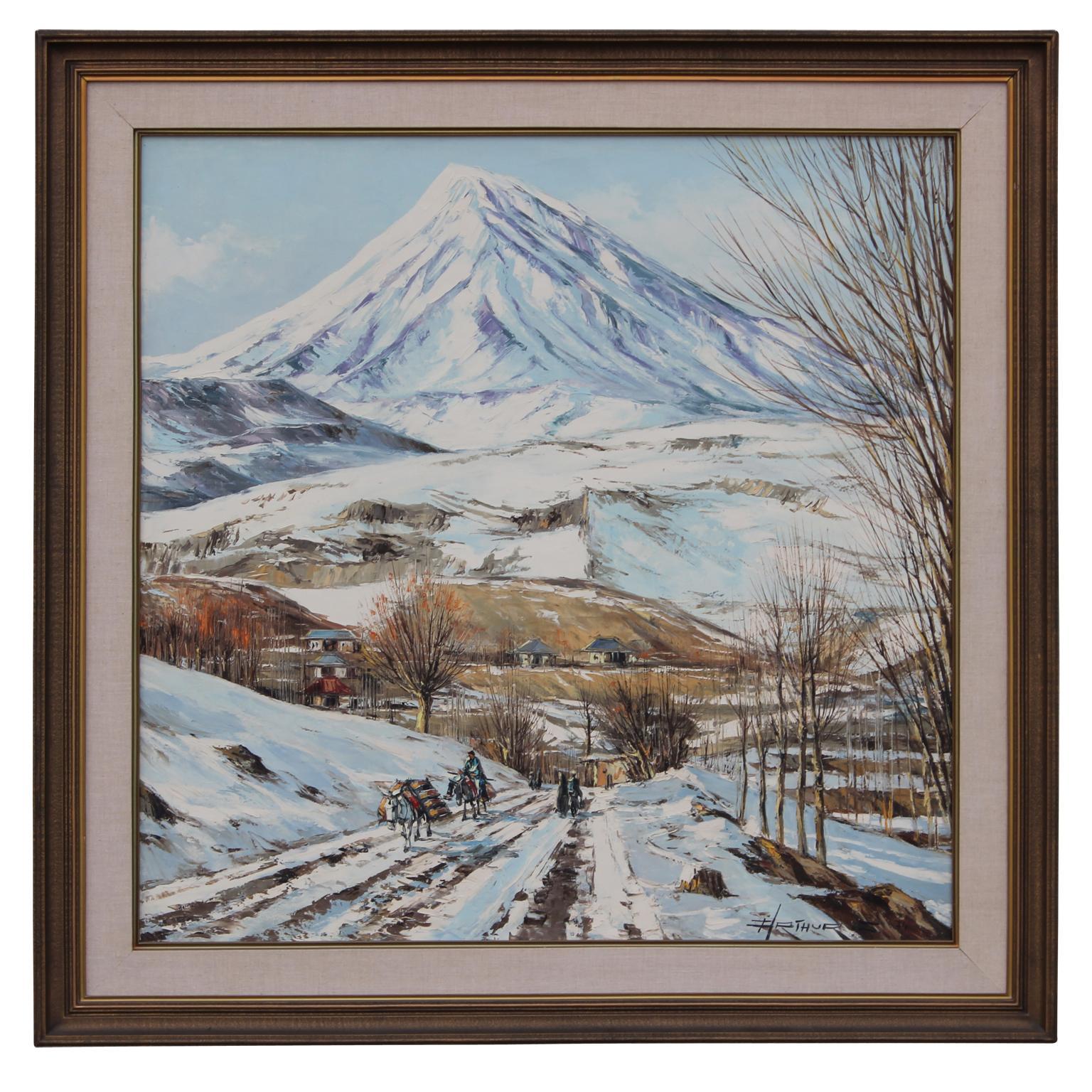 """Naderi Ave. Guive Passage Tehran - Iran"" Winter Landscape"