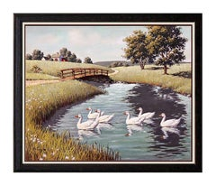 Arthur Sarnoff Oil on Canvas Original Painting Signed Animal Illustration Art