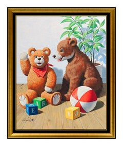 Arthur Sarnoff Oil Painting On Board Original Illustration Advertising Signed
