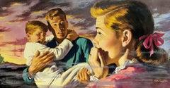 Resue the Children, Family in Horror Magazine Illustration