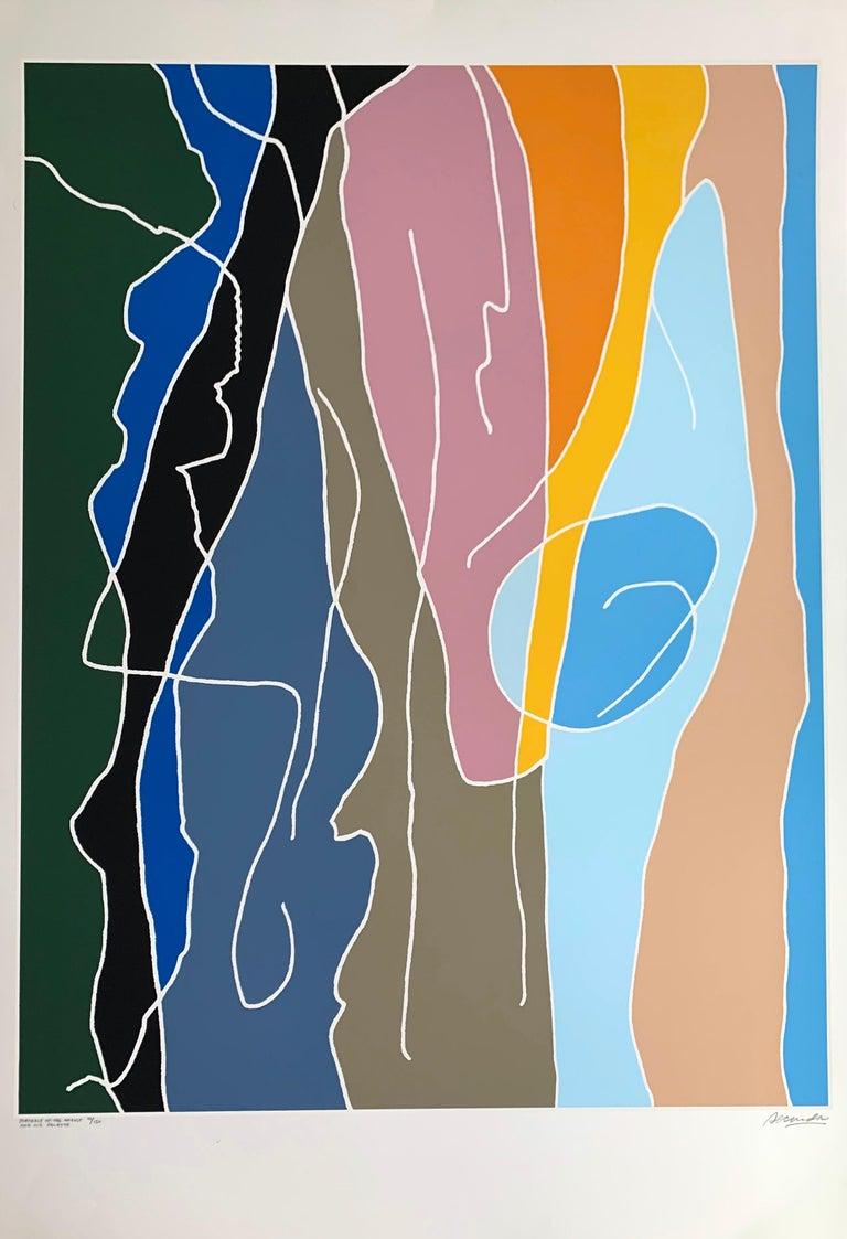 "Arthur Secunda, ""Portrait of the Artist and His Palette"", signed silkscreen - Print by Arthur Secunda"