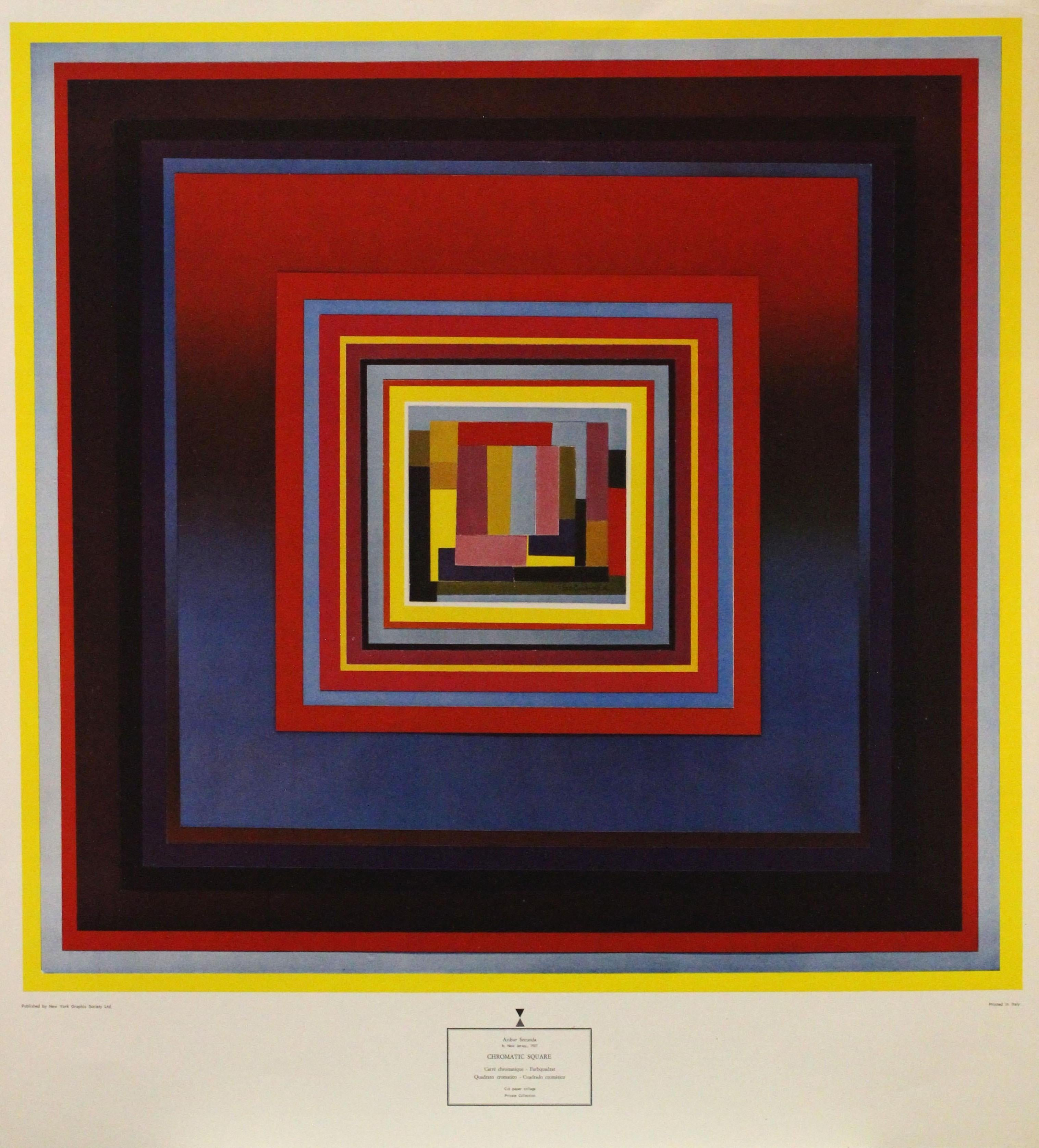 """""""Chromatic Square"""" Published by New York Graphic Society. Printed in Italy"""