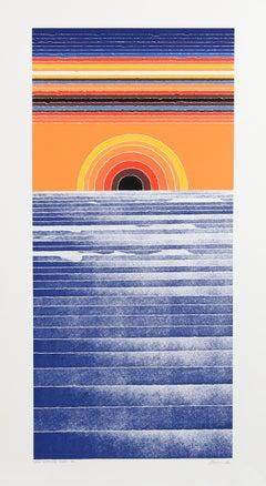 Long Distance Ocean, Psychedelic Seascape by Arthur Secunda