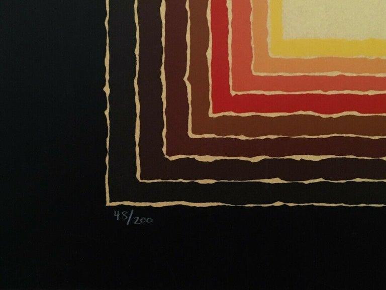 Night Visions, Limited Edition Silkscreen, Arthur Secunda - Op Art Print by Arthur Secunda