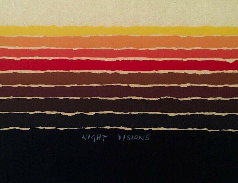 Night Visions, Limited Edition Silkscreen, Arthur Secunda - Black Abstract Print by Arthur Secunda