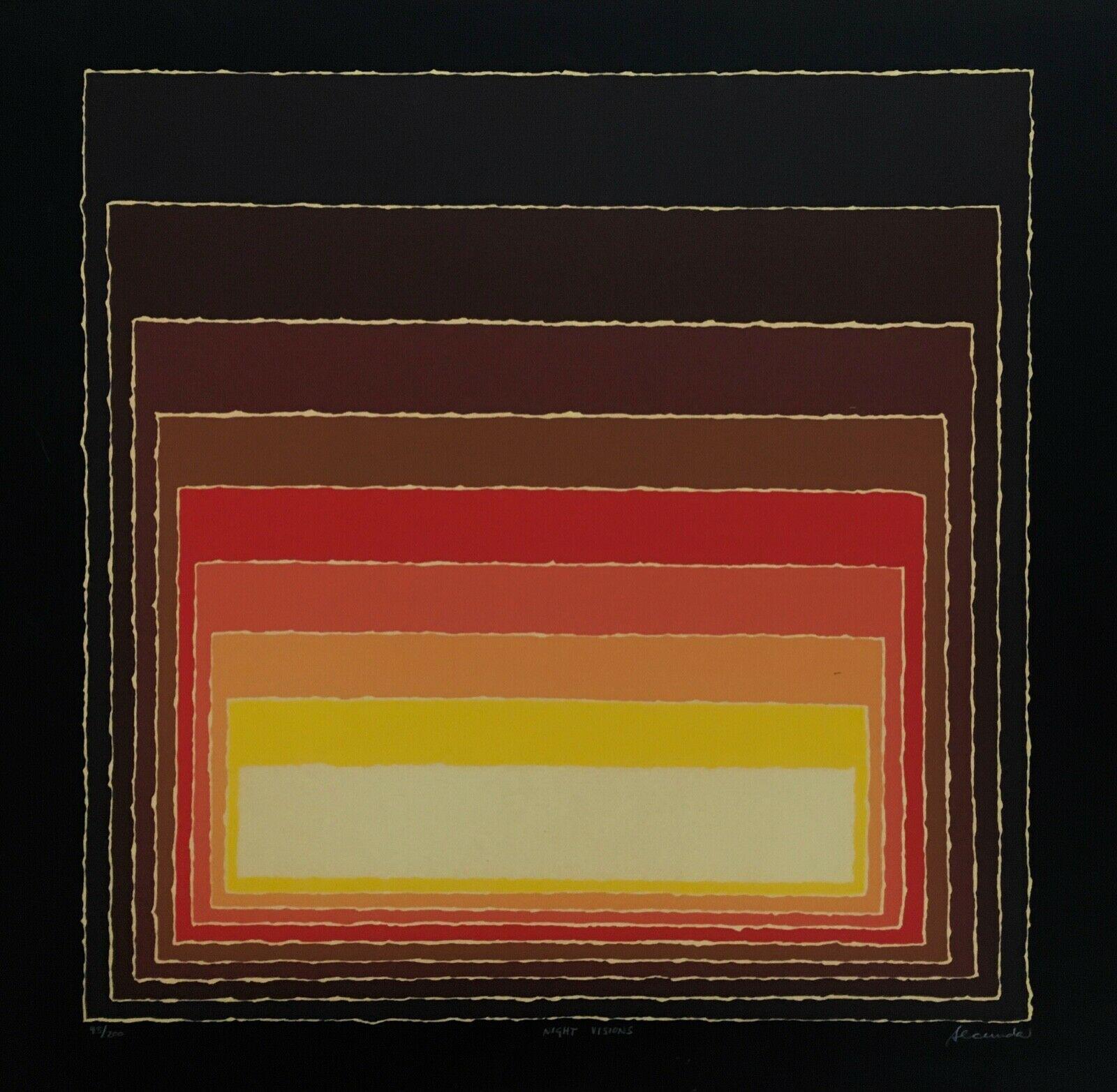 Night Visions, Limited Edition Silkscreen, Arthur Secunda