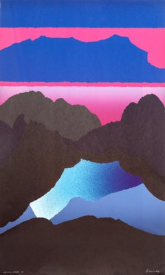 Opening Space, Psychedelic Landscape Serigraph by Arthur Secunda