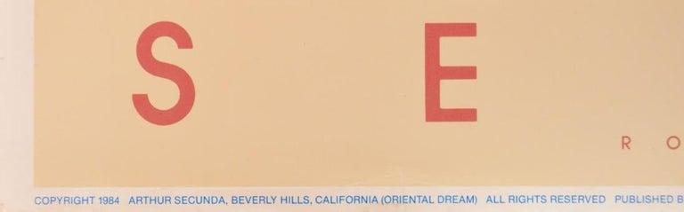 "ARTHUR SECUNDA (American, b. 1927) ""Oriental Dream"", Arthur Secunda, Beverly Hills, California, March, 1980 Poster 39.625 x 23.875 in. Unframed Plate signed Publishing Information: Published by Romm-Lande International Arts, ltd.  Good/Fair"