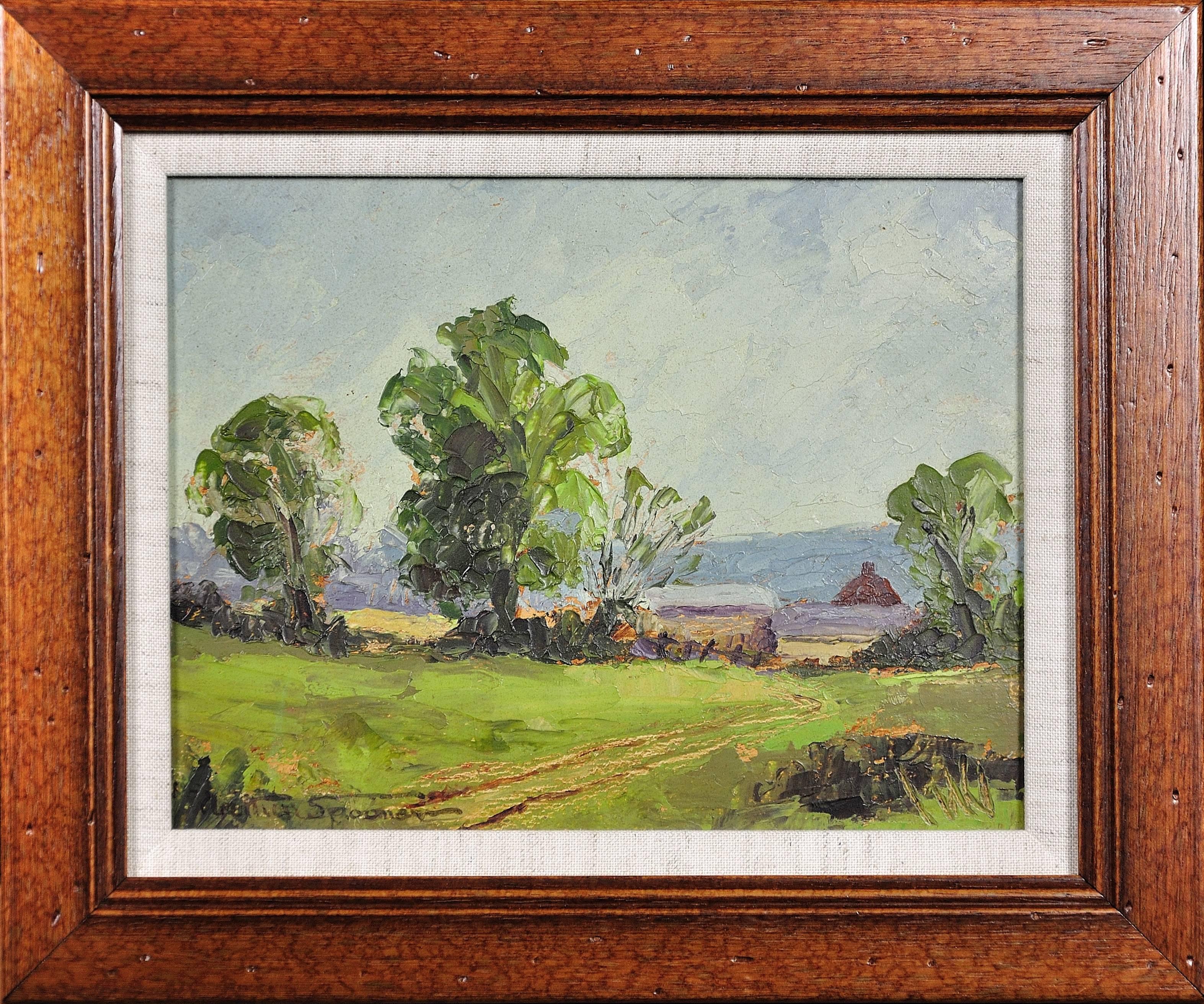 Rural Derbyshire.A Palette of Blues, Greys & Greens.Impressionist.Nottingham Art