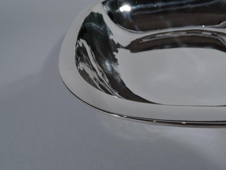 American Craftsman Arthur Stone Art Deco Handmade Sterling Silver Bowl For Sale