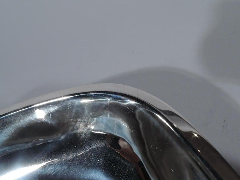 American Arthur Stone Art Deco Handmade Sterling Silver Bowl