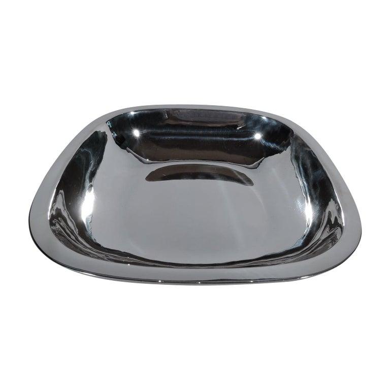 Arthur Stone Art Deco Handmade Sterling Silver Bowl For Sale