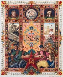 U.S.S.R Russian Folk Art Print Judaica Jewish Artist Cartoonist Arthur Szyk