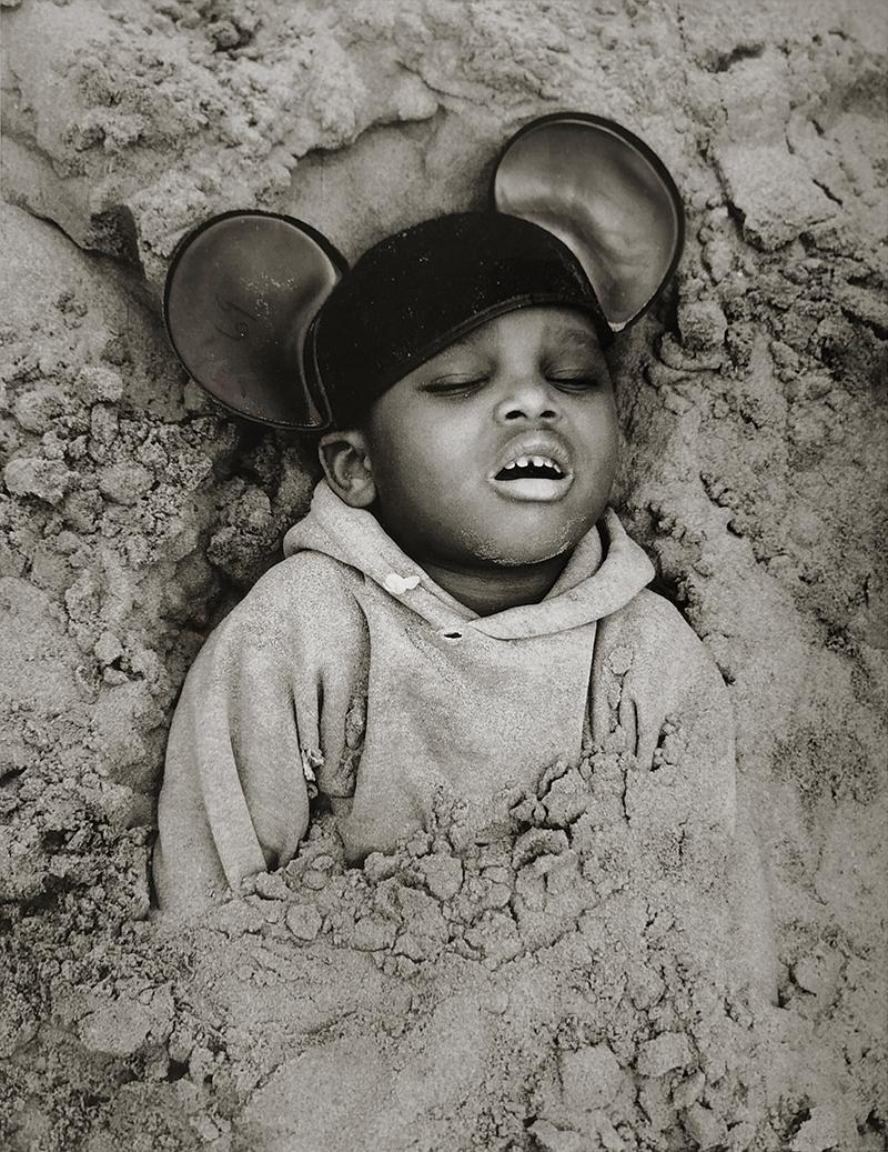 Boy in Mickey Mouse Hat, Coney Island, New York