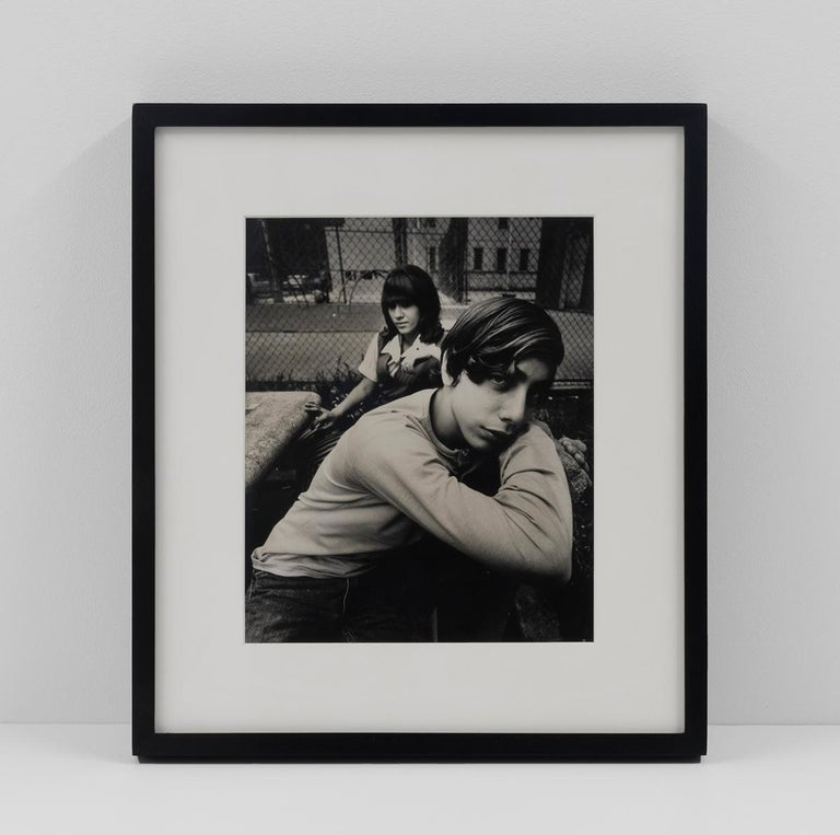 Two Teenagers in a Housing Project Park - Contemporary Photograph by Arthur Tress