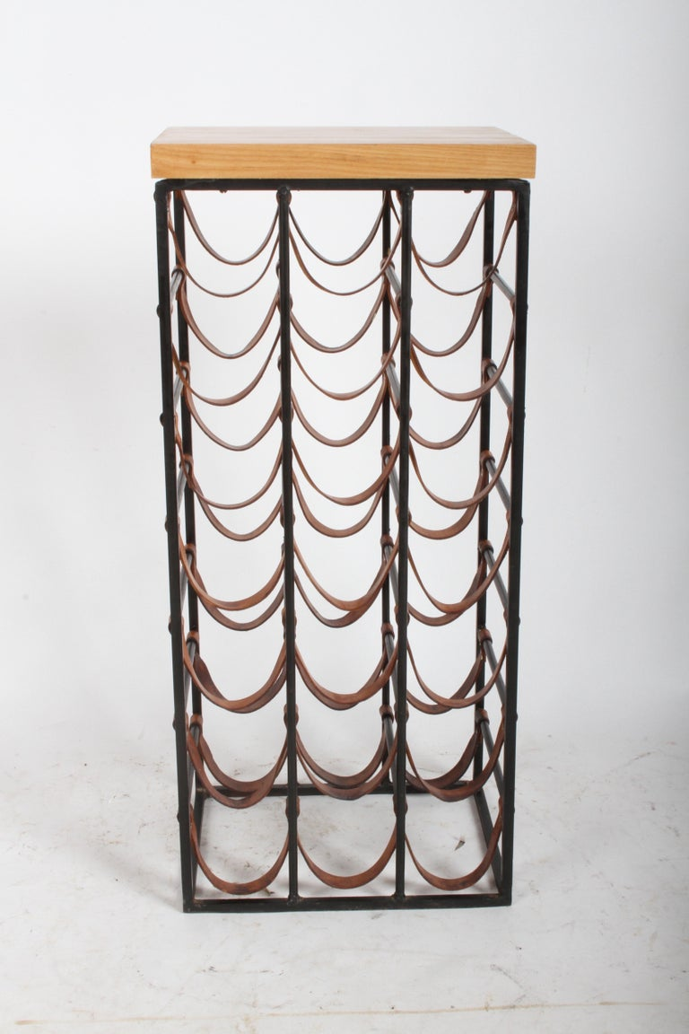 Mid-Century Modern Arthur Umanoff 21 Bottle Wine Rack for Shaver Howard For Sale