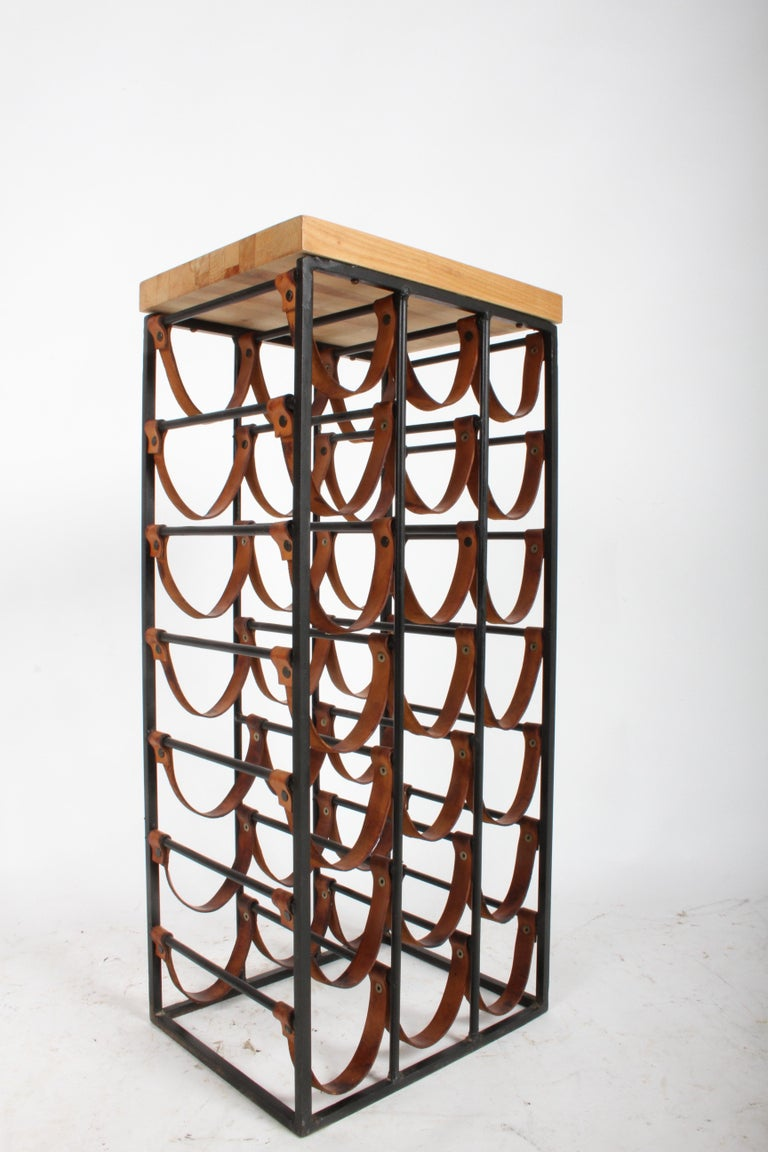 American Arthur Umanoff 21 Bottle Wine Rack for Shaver Howard For Sale