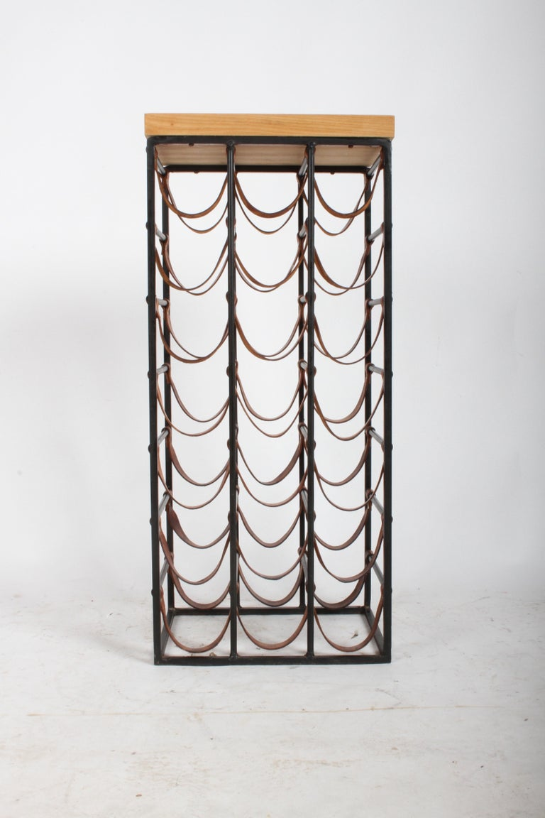 Mid-20th Century Arthur Umanoff 21 Bottle Wine Rack for Shaver Howard For Sale