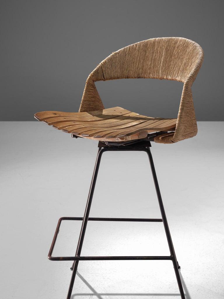 Set of Three Barstools by Arthur Umanoff In Good Condition In Waalwijk, NL