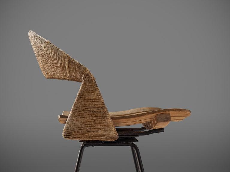 Mid-20th Century Set of Three Barstools by Arthur Umanoff