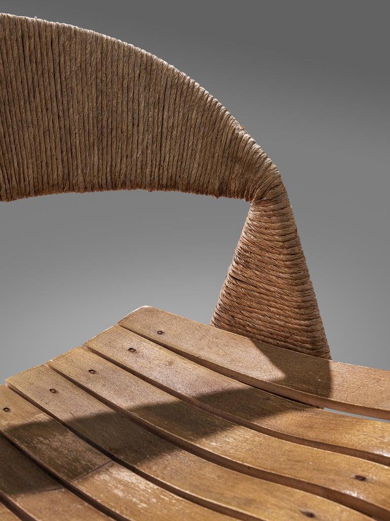 Cane Set of Three Barstools by Arthur Umanoff