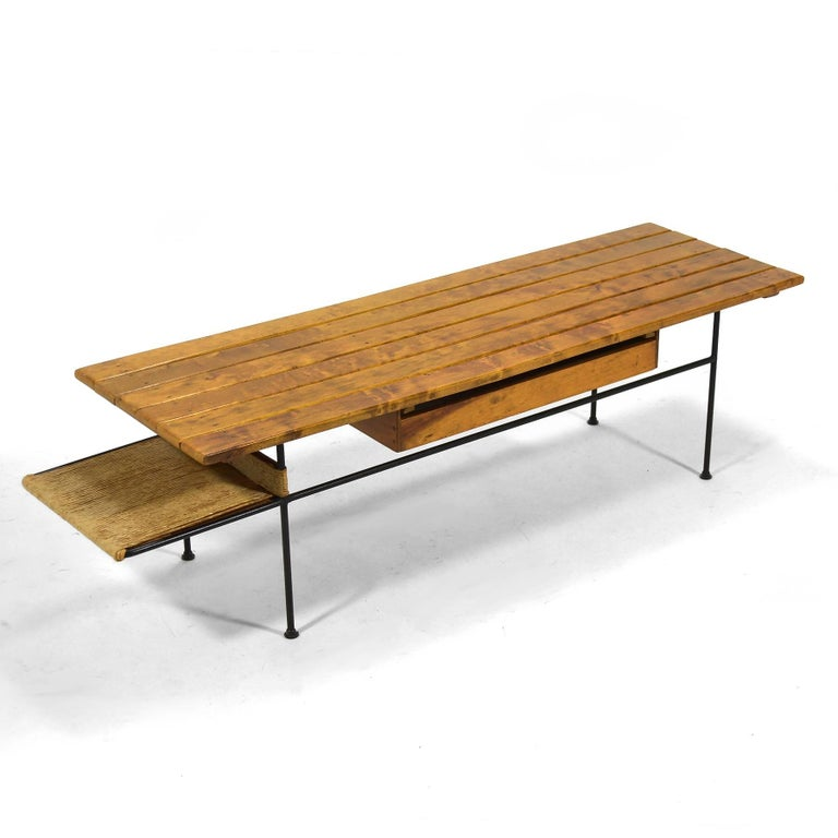 Arthur Umanoff Coffee Table or Bench In Good Condition For Sale In Highland, IN