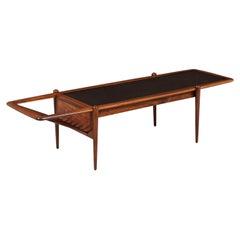 Arthur Umanoff Coffee Table with Magazine Rack for Washington Woodcraft