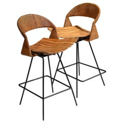 Arthur Umanoff Counter Height Swivel Stools