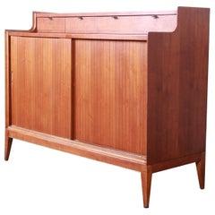 Arthur Umanoff for Cavalier Mid-Century Modern Walnut Sideboard Credenza, 1960s