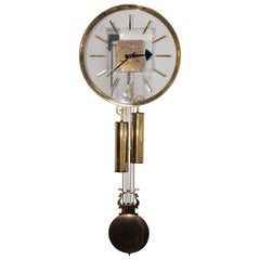 Arthur Umanoff for Howard Miller Lucite Wall Clock