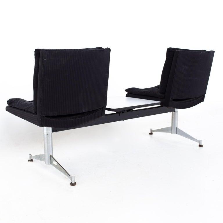 Arthur Umanoff for Madison Furniture Mid Century Modular 2 Seater Bench For Sale 4